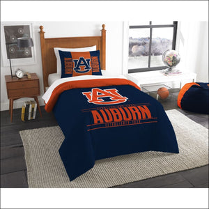 "Auburn OFFICIAL Collegiate, Bedding, """"Modern Take"""" Twin Printed Comforter (64""""x 86"""") & 1 Sham (24""""x 30"""") Set  by The Northwest Company - AmazinTrends.com"
