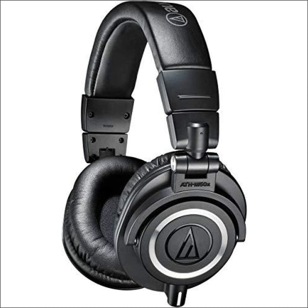 Audio-Technica ATH-M50x Professional Studio Monitor Headphones, Black - AmazinTrends.com