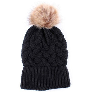 Autumn Winter Women Faux Fur Pompom Hat - AmazinTrends.com