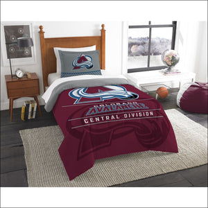 "Avalanche OFFICIAL National Hockey League, Bedding, """"Draft"""" Twin Printed Comforter (64""""x 86"""") & 1 Sham (24""""x 30"""") Set  by The Northwest Company - AmazinTrends.com"