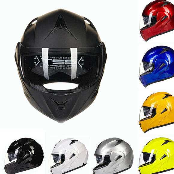 8 Colors Full Open Face Modular Flip Up Dual Visor Motorcycle Street Helmet - AmazinTrends.com