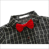 Baby Boys 2 Piece Jeans Shirt Sets with Bowtie - AmazinTrends.com