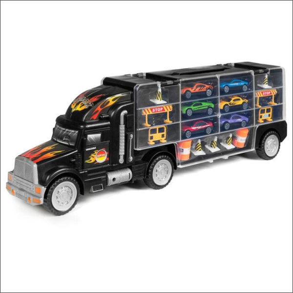 BCP 2-Sided Carrier Truck w/ 18 Cars and 28 Slots - Multicolor - AmazinTrends.com
