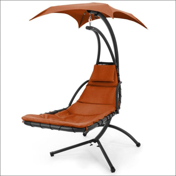 BCP Hanging Chaise Lounge Chair w/ Canopy - AmazinTrends.com