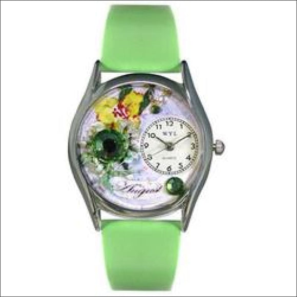 Birthstone Jewelry: August Birthstone Watch Small Silver Style - AmazinTrends.com