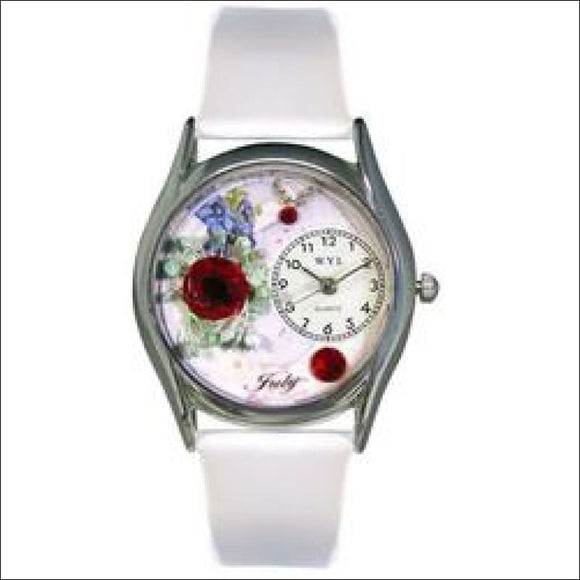 Birthstone Jewelry: July Birthstone Watch Small Silver Style - AmazinTrends.com