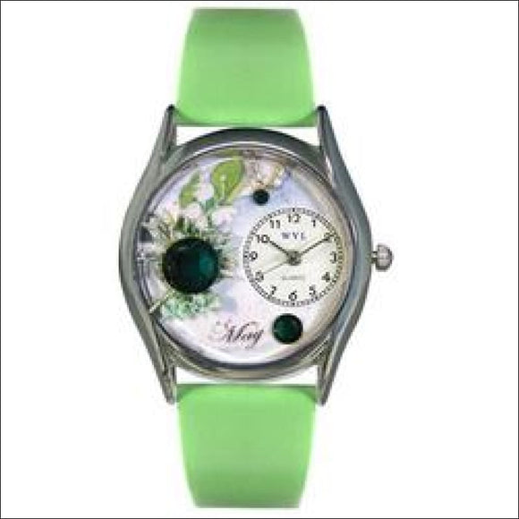 Birthstone Jewelry: May Birthstone Watch Small Silver Style - AmazinTrends.com