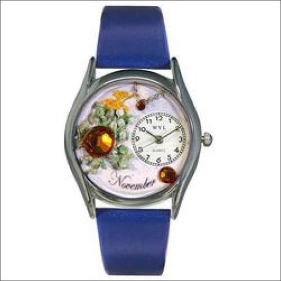 Birthstone Jewelry: November Birthstone Watch Small Silver Style - AmazinTrends.com