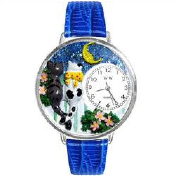 Cats Night Out Watch in Silver (Large) - AmazinTrends.com