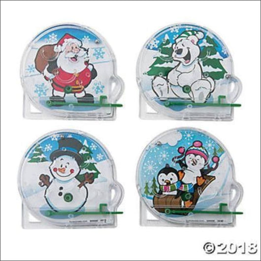 CHRISTMAS ~ 8 Mini Holiday Pinball Games, Toys, Stocking Stuffers, Party Favors - AmazinTrends.com