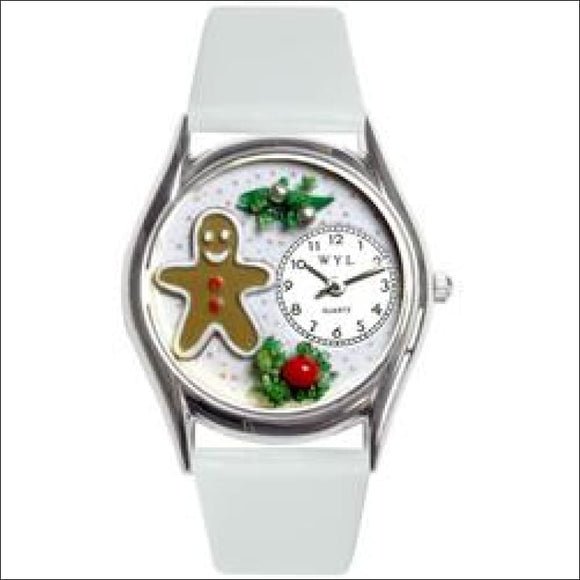 Christmas Gingerbread Watch Small Silver Style - AmazinTrends.com