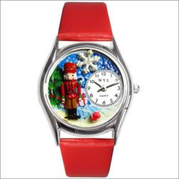 Christmas Nutcracker Watch Small Silver Style - AmazinTrends.com
