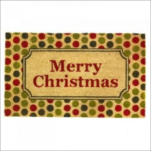 Christmas Polka Dot Welcome Mat - AmazinTrends.com