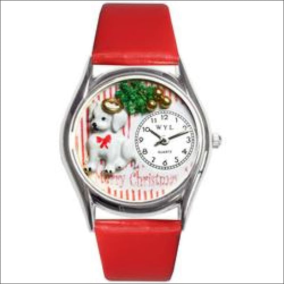 Christmas Puppy Watch Small Silver Style - AmazinTrends.com