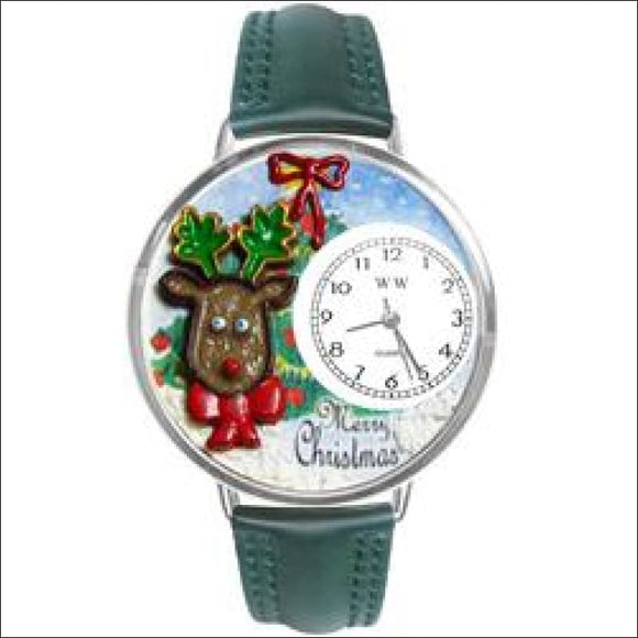 Christmas Reindeer Watch in Silver (Large) - AmazinTrends.com