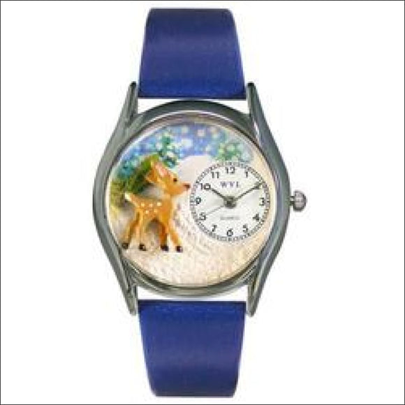 Christmas Reindeer Watch Small Silver Style - AmazinTrends.com