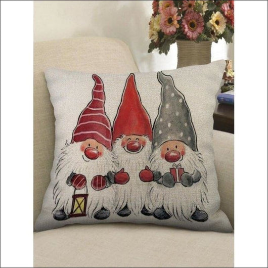 Christmas Santa Claus Print Sofa Linen Pillowcase -  W18 X L18 Inch - AmazinTrends.com
