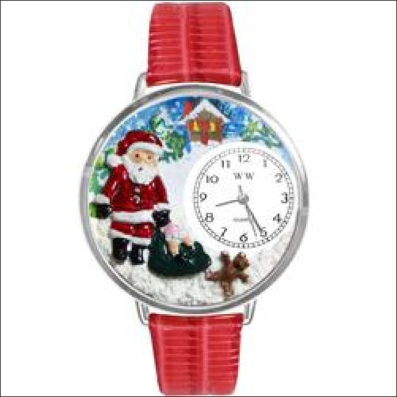 Christmas Santa Claus Watch in Silver (Large) - AmazinTrends.com