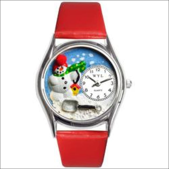 Christmas Snowman Watch Small Silver Style - AmazinTrends.com