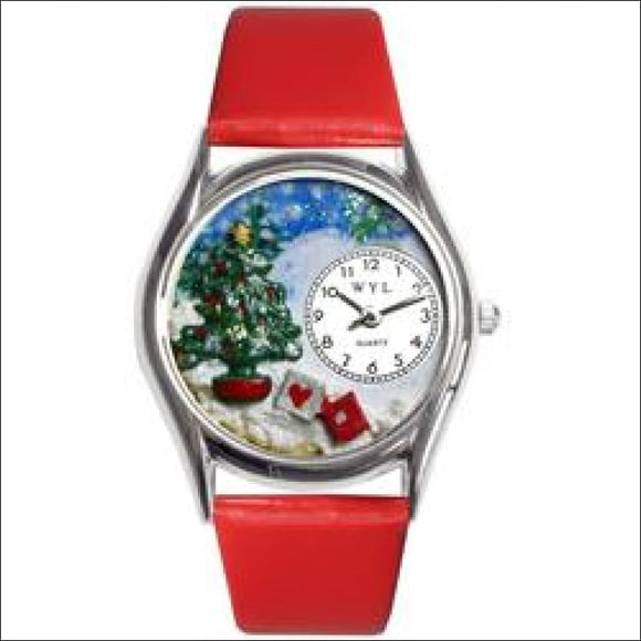 Christmas Tree Watch Small Silver Style - AmazinTrends.com