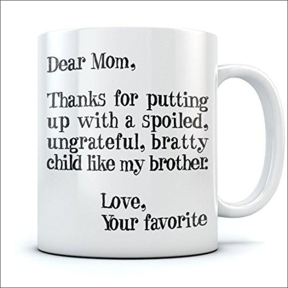 Christmas/Mother's Day Gift Funny Mom Ceramic Coffee Mug 15 Oz. White - AmazinTrends.com