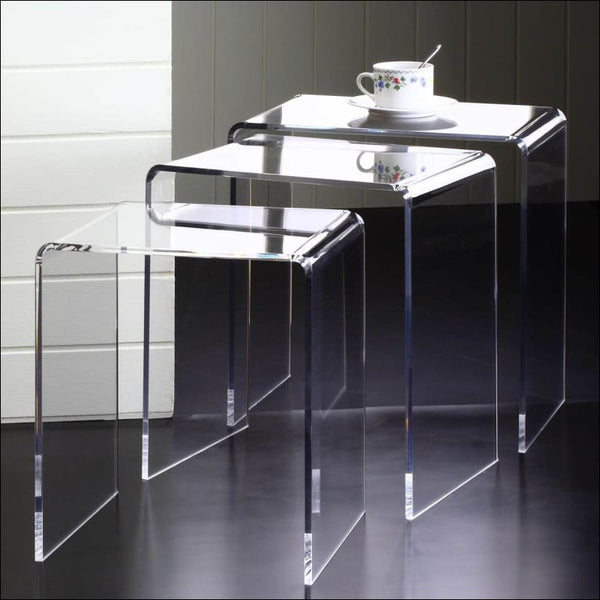 Clear Acrylic Nesting Tables (Set of 3) - AmazinTrends.com