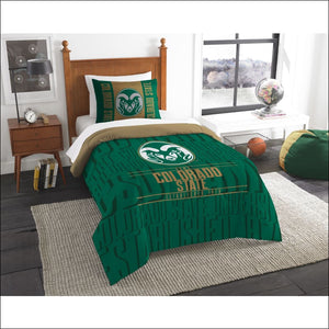 "Colorado State OFFICIAL Collegiate, Bedding, """"Modern Take"""" Twin Printed Comforter (64""""x 86"""") & 1 Sham (24""""x 30"""") Set  by The Northwest Company - AmazinTrends.com"