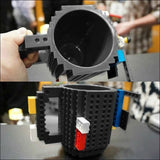 Creative Build-on Brick Mug Cups Drinking Water Holder, for LEGO Building, Blocks Design, - AmazinTrends.com