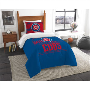 "Cubs OFFICIAL Major League Baseball, Bedding, Printed Twin Comforter (64""""x 86"""") & 1 Sham (24""""x 30"""") Set  by The Northwest Company - AmazinTrends.com"