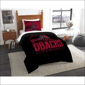 "Diamondbacks OFFICIAL Major League Baseball, Bedding, Printed Twin Comforter (64""""x 86"""") & 1 Sham (24""""x 30"""") Set  by The Northwest Company - AmazinTrends.com"