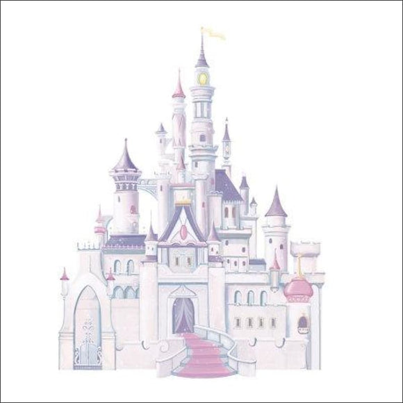 Disney Princess Castle Peel & Stick Giant Wall Decal 👸 - AmazinTrends.com