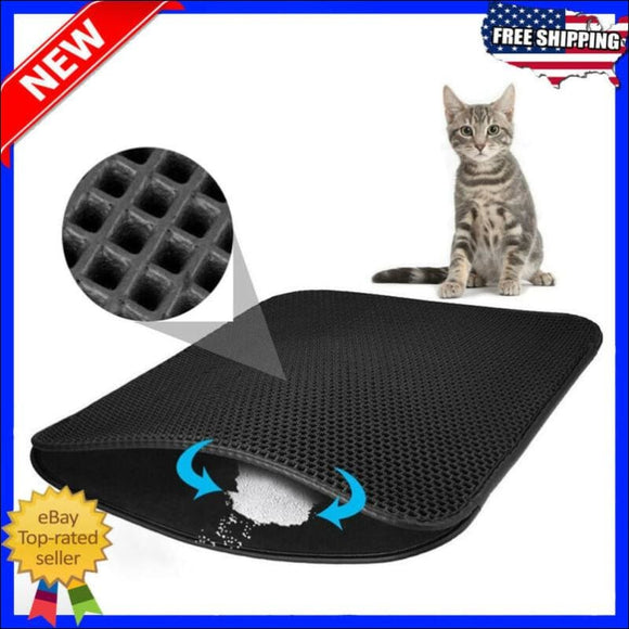 Double Layer Cat Litter Mat - AmazinTrends.com