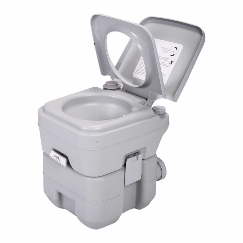 Portable Toilets Accessories 5gallon 20l Portable Toilet Flush Travel Camping Outdoor Indoor Potty Commode Be Sporting Goods Cub Co Jp