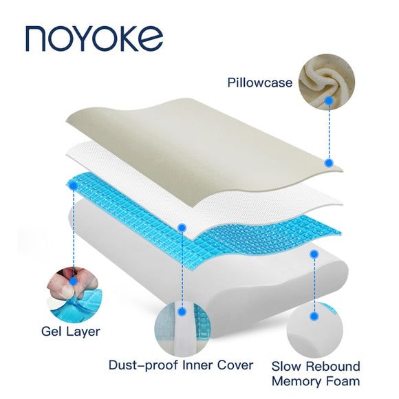 Orthopedic Memory Foam Cooling Gel Pillow - AmazinTrends.com