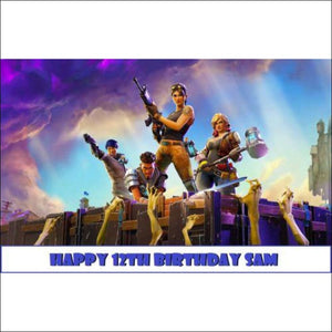 Fortnite Edible image Cake Topper Decoration 🎂 - AmazinTrends.com