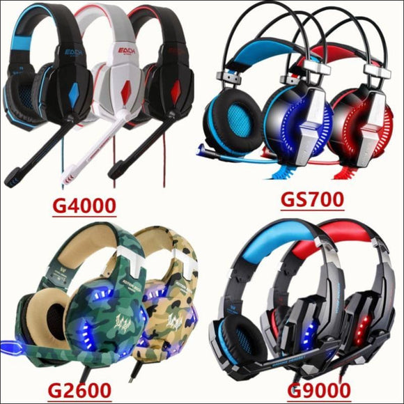 Gaming Headset Surround Stereo Headband Headphone USB 3.5mm LED with Mic for PC - AmazinTrends.com