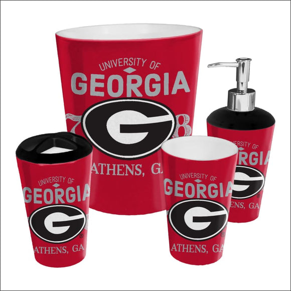 Georgia OFFICIAL Collegiate 4-Piece Bath Set - AmazinTrends.com