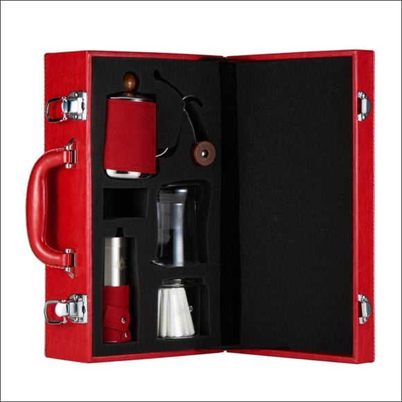 Gift Coffee Pot Set, Drip Cup, Fine Mouth Pot, Grinding Machine, Filter Paper - AmazinTrends.com