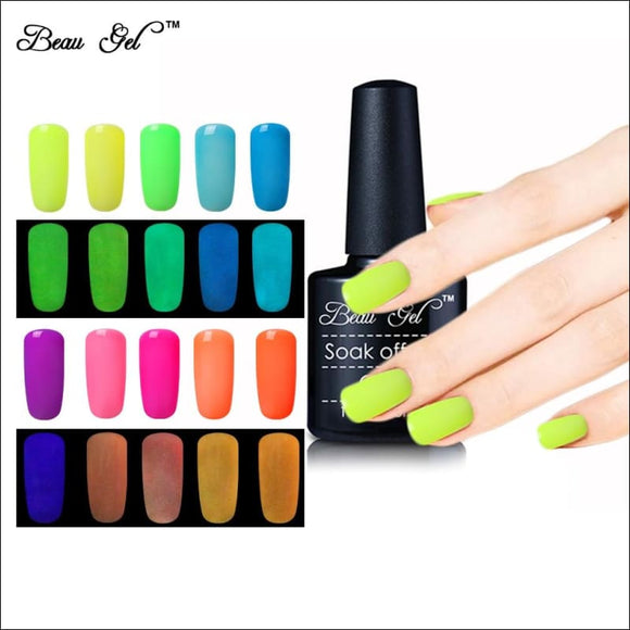 Glow In The Dark Paint Luminous Nail Gel Polish 💅 - AmazinTrends.com