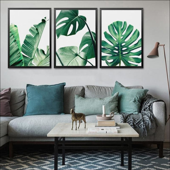 Green Leaf, Botanic Canvas Wall Picture - AmazinTrends.com