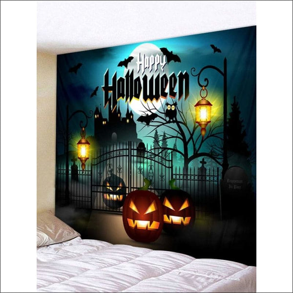 Halloween Night Wall Tapestry 🎃👽💀☠️👻 - AmazinTrends.com