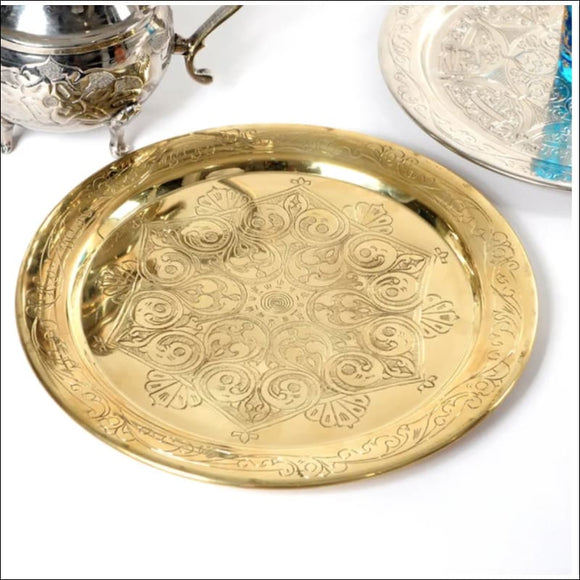 Handmade Authentic 12-inch Brass Platter (Tunisia) - AmazinTrends.com