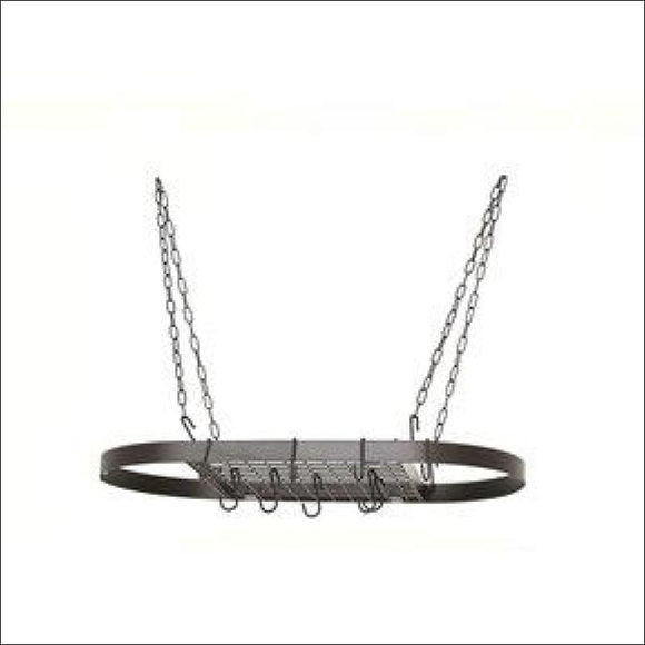 Hanging Pot Rack in Matte Black Color - AmazinTrends.com