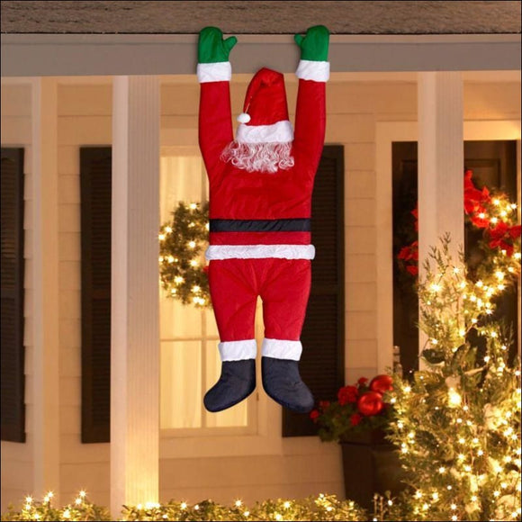 Hanging Santa by Gemmy Industries🎅 - AmazinTrends.com