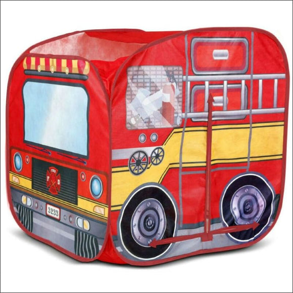 HIDEAWAY TENT PLAYHUT FIRE ENGINE TRUCK Child Boy 3 FUN KIDS TOY Fireman Pretend - AmazinTrends.com