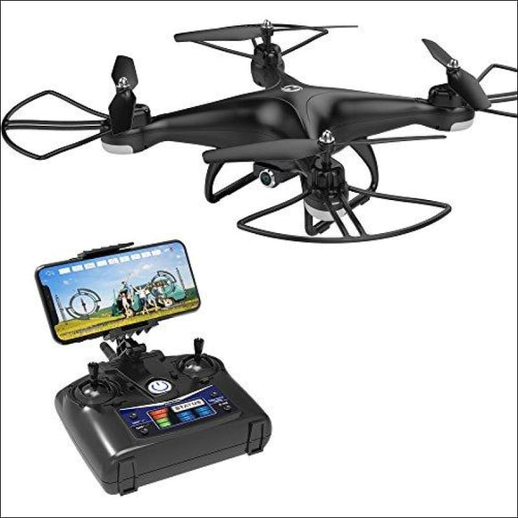 Holy Stone HS110D FPV RC Drone with 720P HD Camera Live Video 120° Wide-Angle WiFi Quadcopter with Altitude Hold Headless Mode 3D Flips RTF with 4G TF Card Modular Battery, Color Black - AmazinTrends.com