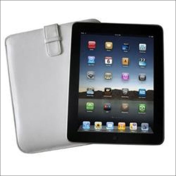 Icon Apple iPad Sheep Skin Leather Sleeve - White - gift-bzaar