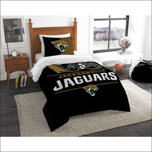 "Jaguars OFFICIAL National Football League, Bedding, """"Draft"""" Printed Twin Comforter (64""""x 86"""") & 1 Sham (24""""x 30"""") Set  by The Northwest Company - AmazinTrends.com"