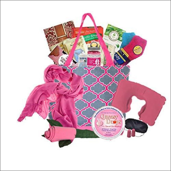 Just Don't Send Flowers The Big Queasy Cancer Gift Basket for Women - Teal - AmazinTrends.com