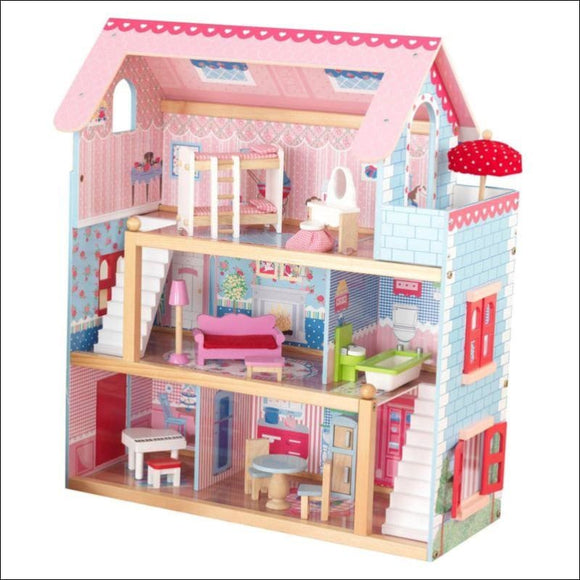 KidKraft Chelsea Wooden Dollhouse w/ Furniture - AmazinTrends.com